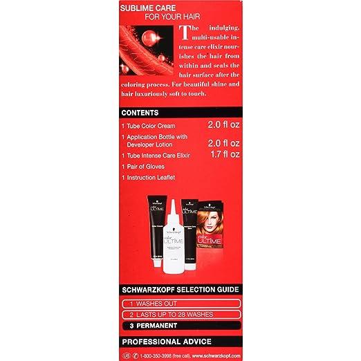 Amazon Com Schwarzkopf Ultime Hair Color Cream Light Copper Red