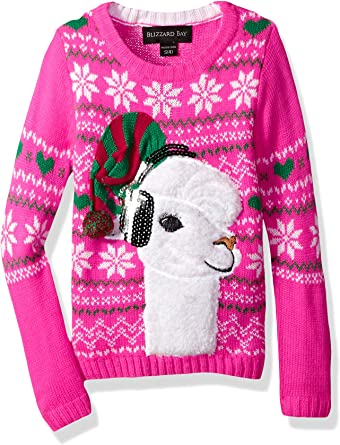 Blizzard Bay Girls Ugly Christmas Sweater Tunic