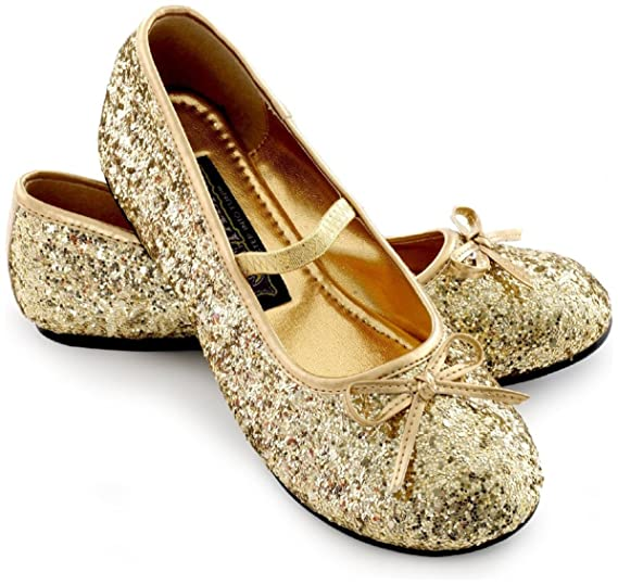 Amazon.com  Sparkle Ballerina Shoes Child (gold) - Small (11 12)  Shoes bc35c7dee