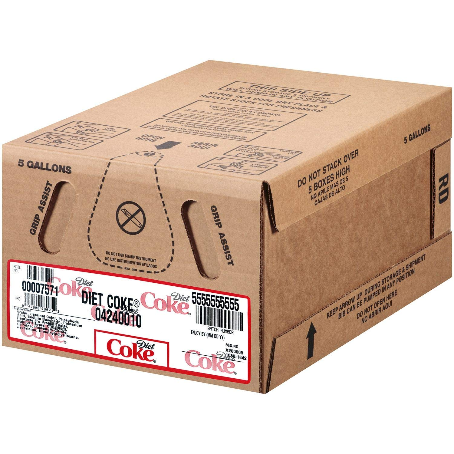 Diet Coke Bag-In Box Fountain Syrup 5 gal. A1