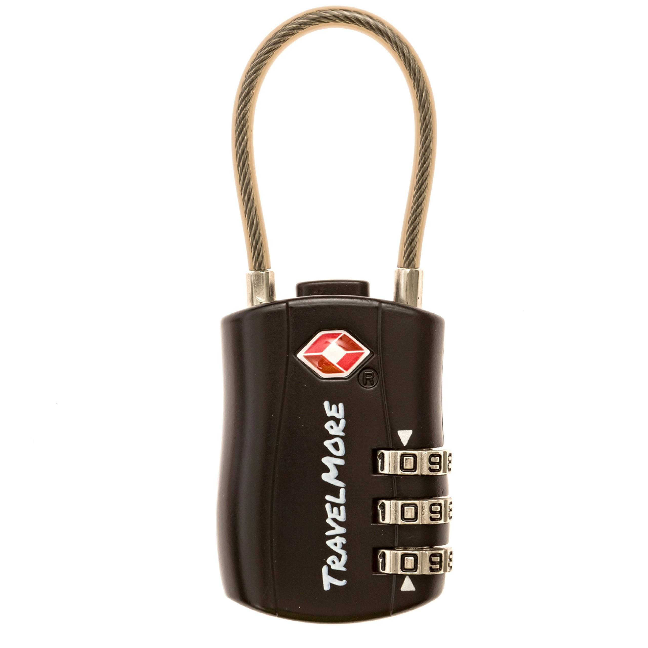 2 Pack TSA Approved Travel Combination Cable Luggage Locks for Suitcases & Backpacks - Black by TravelMore (Image #2)