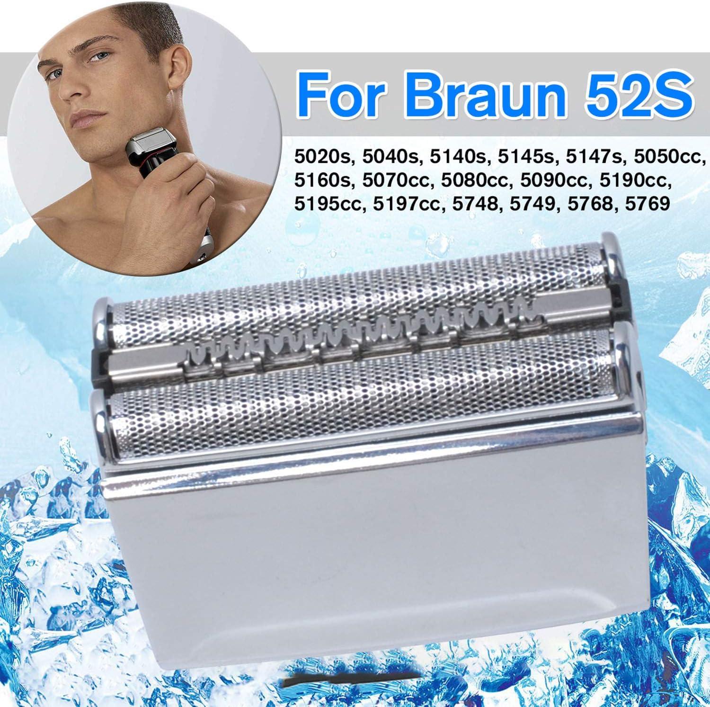 52S Cabezales de Afeitado para Braun Series 5 Afeitadora Eléctrica Hombre, Cuchillas de Afeitar de Recambio Poweka para Braun Series 5050CC 5070CC 5080CC 5090CC ...