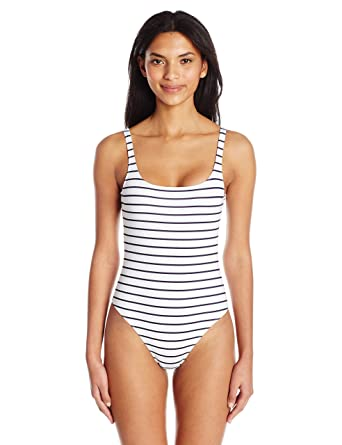 French Connection Classic Costume, Maillot Une Pièce Femme, Weiß (Stripe  90), fb21c14c8d2a