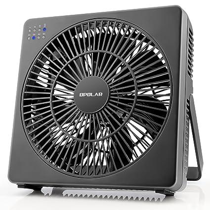 OPOLAR 8 Inch Desk Fan(Included Adapter), USB Operated, 4 Speeds+