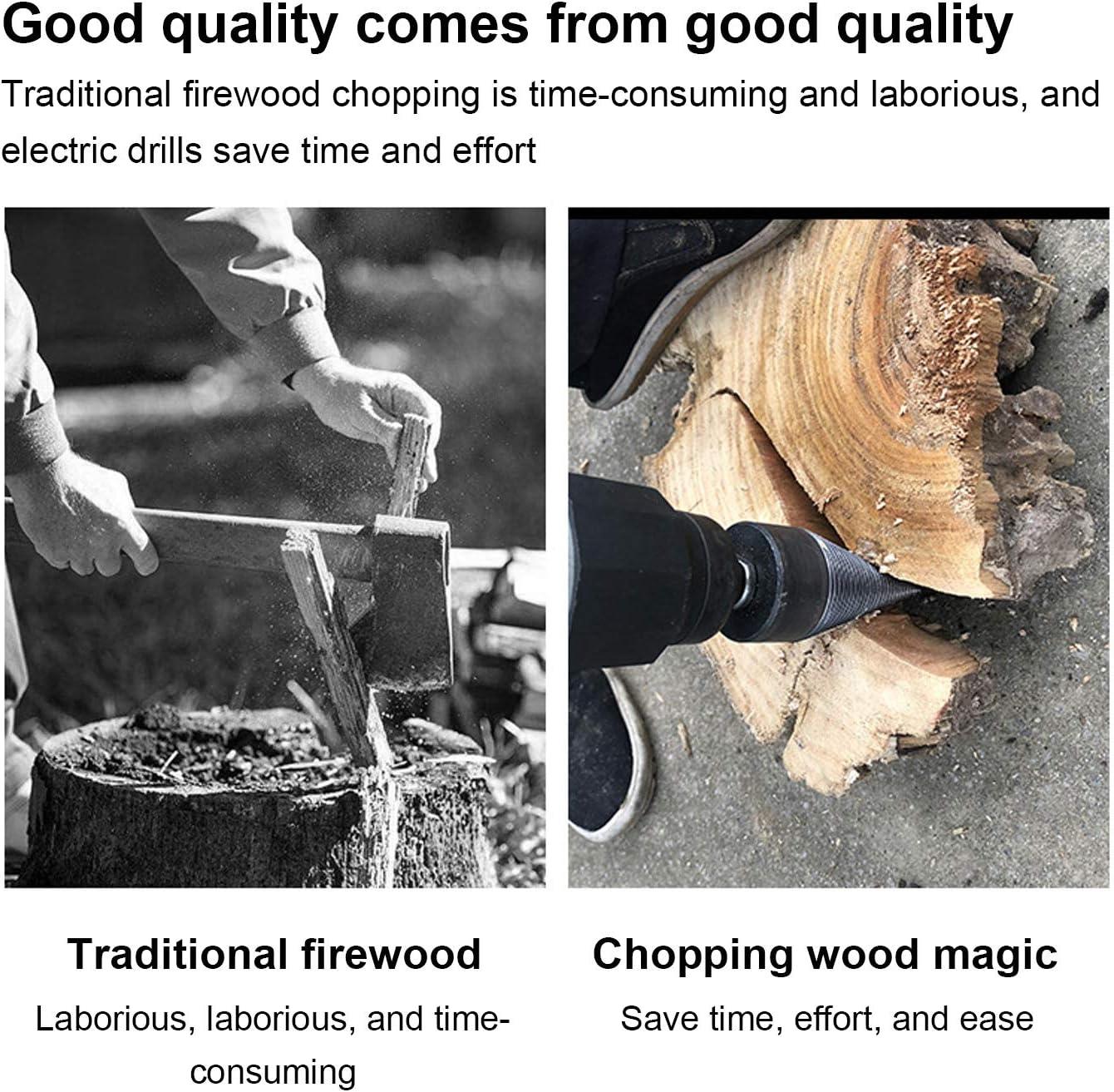 Hex+Square+Round Wood Splitter Screw Heavy Duty Drill Screw for Household Electric Drill Log Splitter Wedge Firewood Kindling Splitter Removable Firewood Log Splitter Drill Bit 3PCS 32mm
