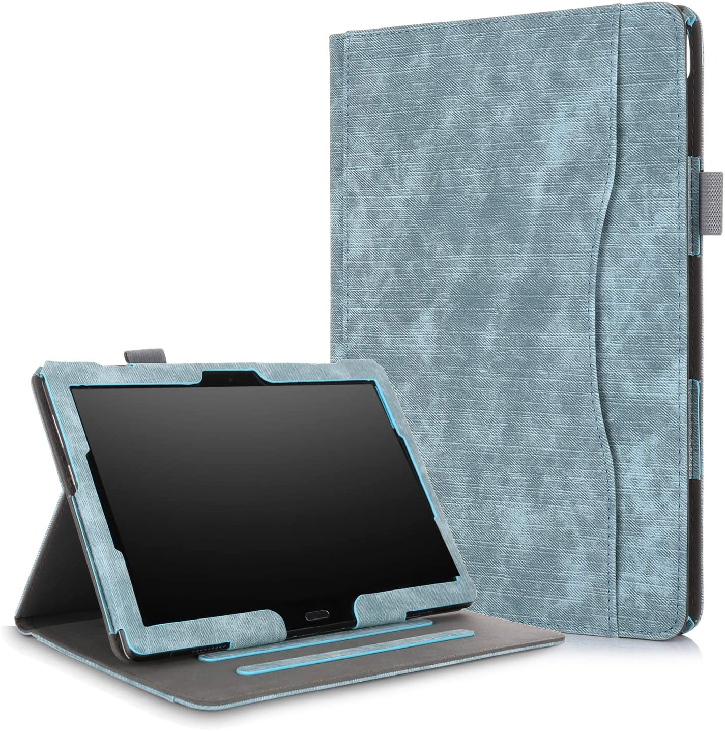 XBE Multifunctional Case for Lenovo Tab M10 TB-X605F TB-X505F / P10 X705F with Multiple Viewing Angles and Hand Holder , Grey-green