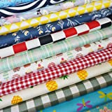 Misscrafts 50 PCS 10 x 10 inches Cotton Fabric