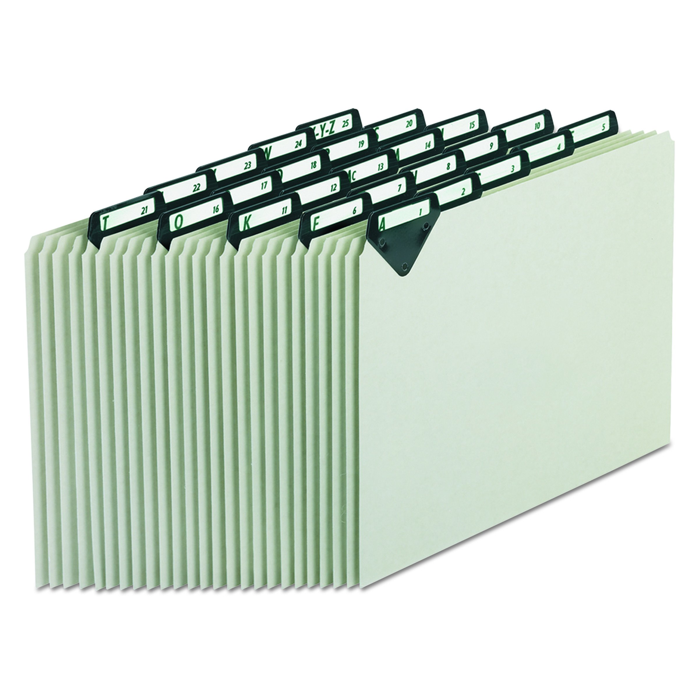 Pendaflex MTN925 Steel Top Tab Recycled Guides, Alpha, 1/5 Tab, Pressboard, Letter (Set of 25)