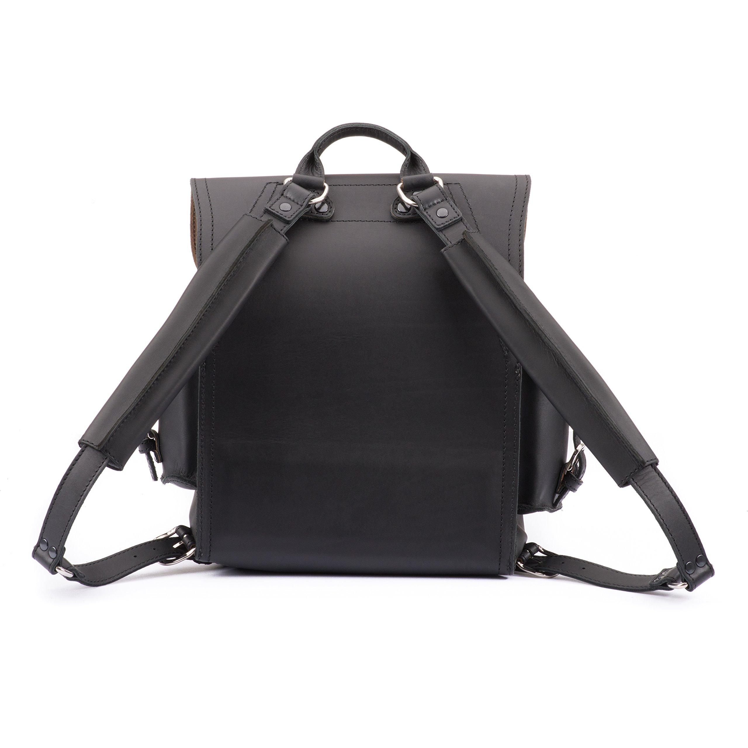 Saddleback Leather Squared Backpack - Best Backpack for School, Business, Travel - 100 Year Warranty by Saddleback Leather Co. (Image #5)