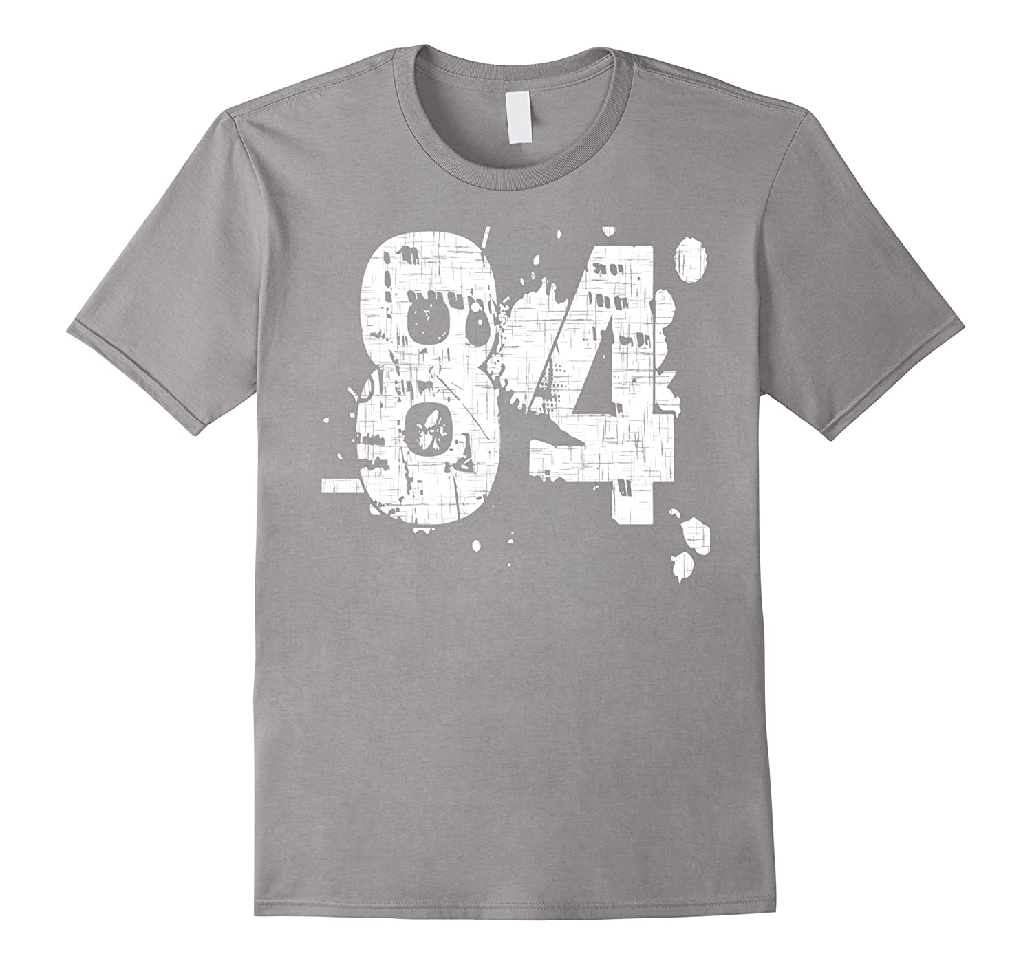 84 Numbered T-Shirt printed front and back in super grunge-PL