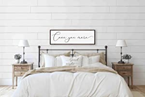 DKISEE Love You More Wood Sign for Master Bedroom, Master Bedroom Wall Decor, Bedroom Wall Art Over The Bed, Bedroom Decor Above Bed, Bedroom Sign 5.9x20 inches