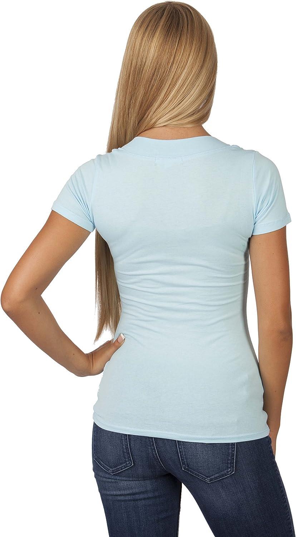 Hollywood Star Fashion Camiseta de manga corta con cuello en V
