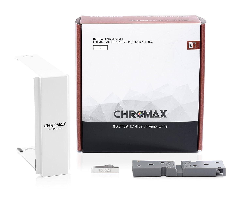 Noctua NA-HC2 chromax.White heatsink Cover for NH-U12S, NH-U12S TR4-SP3 /& NH-U12S SE-AM4