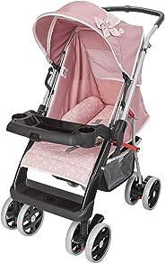 Carrinho De Bebê Berço Thor Plus Até 15 Kg, Tutti Baby, Rosa Coroa