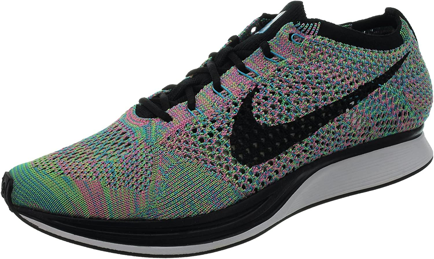 Nike Mens Flyknit Racer Blue Glow Black-White Fabric