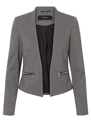 VERO MODA - Damen Jersey-Blazer in grau mit Muster oder schwarz (10206213)   Amazon.de  Bekleidung de913e552a
