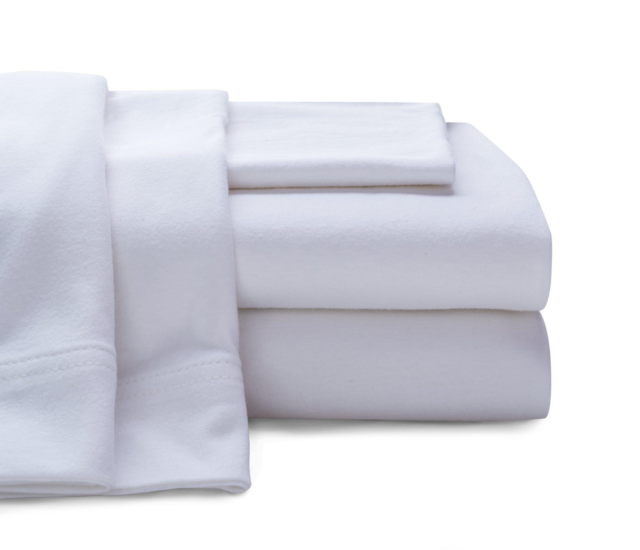 Baltic Linen Company Cotton Jersey Sheet Set, California King, White