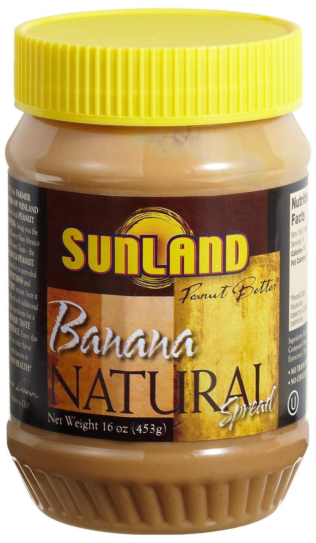 Amazon.com : Sunland Banana Peanut Butter Spread (No Stir), 16-Ounce PET Jars (Pack of 6) : Grocery & Gourmet Food