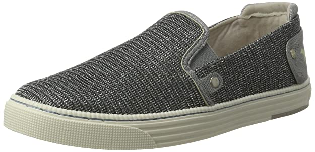 Womens 1246-404-21 Loafers, Silver Mustang