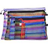 BCP set of 6pcs Random Color Mesh Multipurpose Travel Storage Organizer Bag