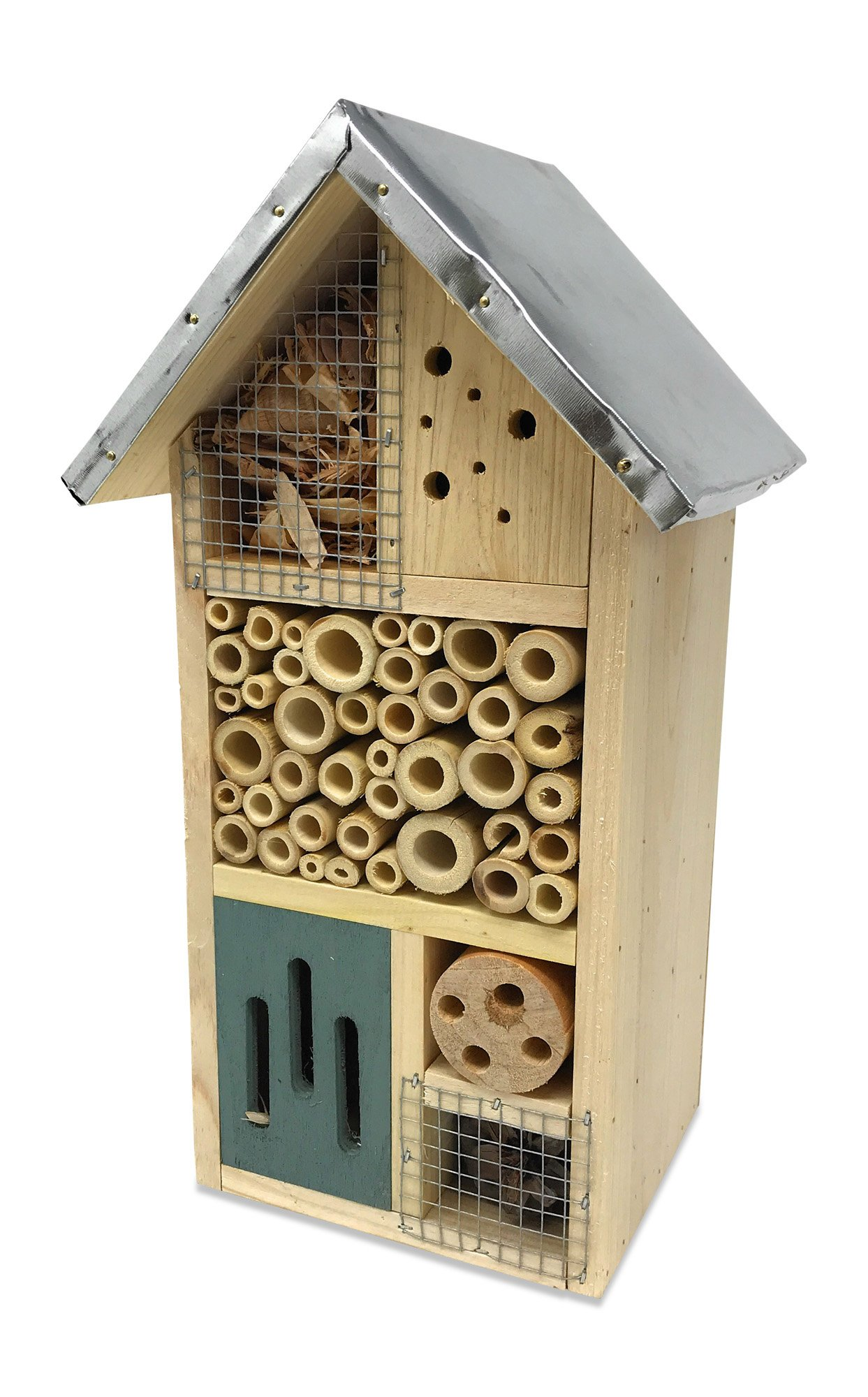 """Lantern Hill Multi-Chambered Insect House, Designed Especially For Your Favorite Garden Friends, 7.3"""" x 6"""" x 12.5"""""""