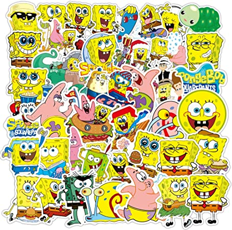 Cartoon Sponge Laptop Vinyl Stickers