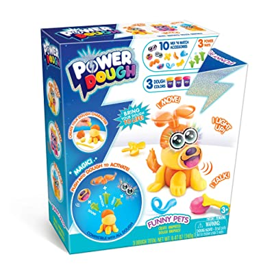 Canal Toys USA Ltd Power Dough Pets Medium Box Interactive Dough (17 Piece): Toys & Games