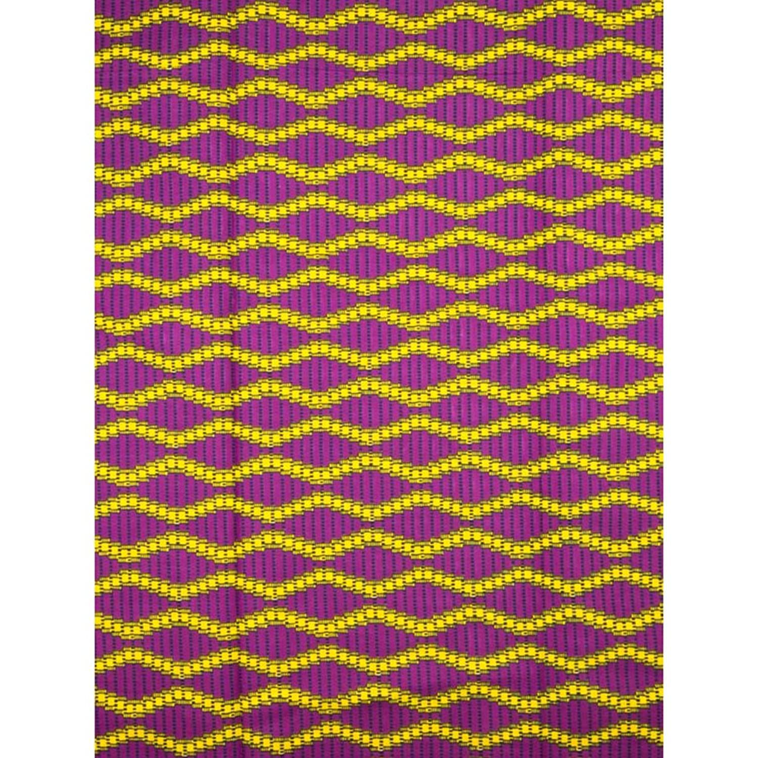 Premier Wholesale African Products Real Wax Purple Yellow Chain Designs rw603708