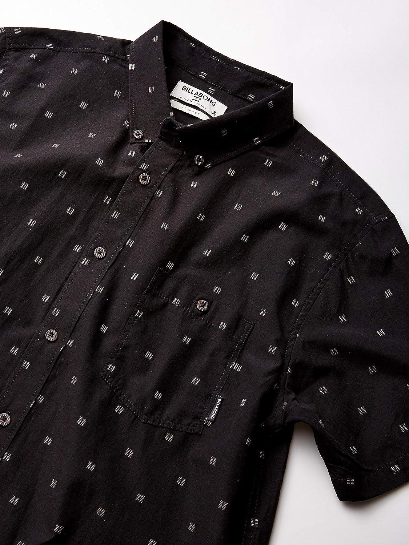 Billabong All Day Jacquard - Camisa corta de tejido jacquard para hombre - Negro - Small: Amazon.es: Ropa y accesorios