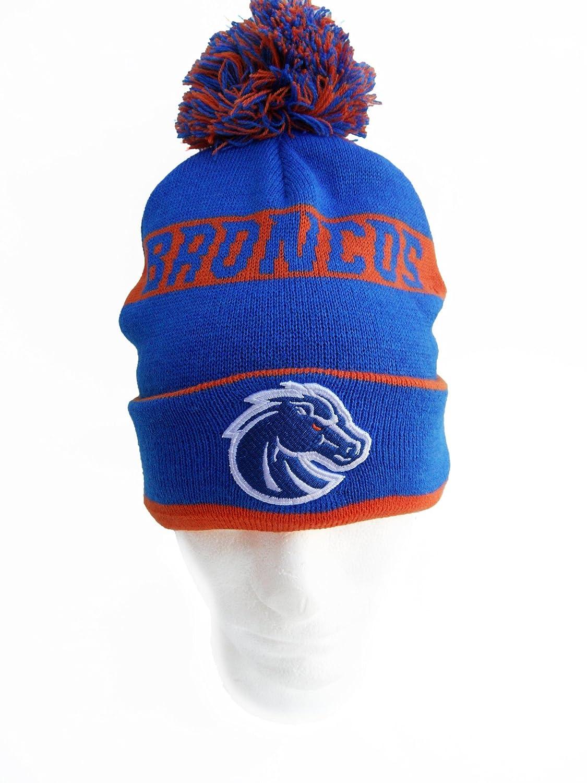 Amazoncom Ncaa Boise State Broncos Cuffed Pom Knit Hat One Size