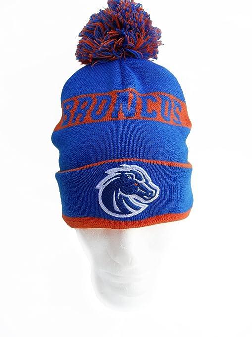 Amazon.com   NCAA Boise State Broncos Cuffed Pom Knit Hat 90f25094734