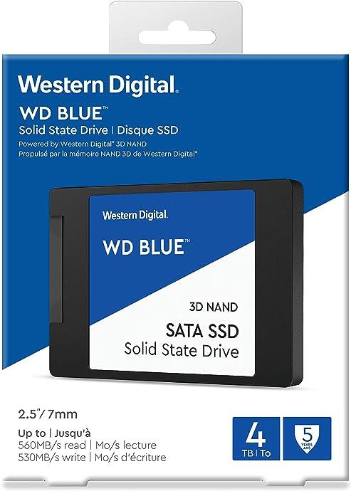 金盒特价 WD 西部数据 3D版 NAND SATA接口 4TB 蓝标 SSD 2.5寸固态硬盘 7折$384.99史低 海淘转运到手约¥2716