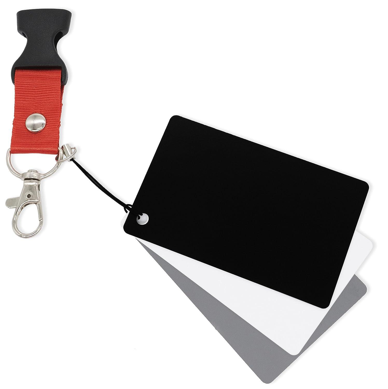 MyGadget Tarjetas de Grises para fotografía - Set 3 Unidades de Carta de Exposición y Calibración Fotográfica (18%) - Gris, Blanco y Negro