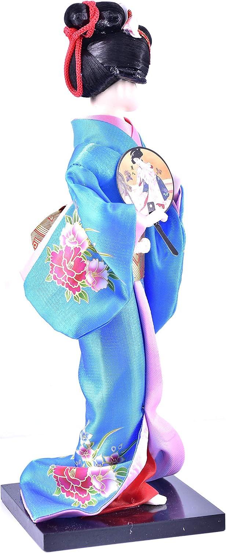 Blue LHR trading inc 9 Japanese Geisha Oriental Doll