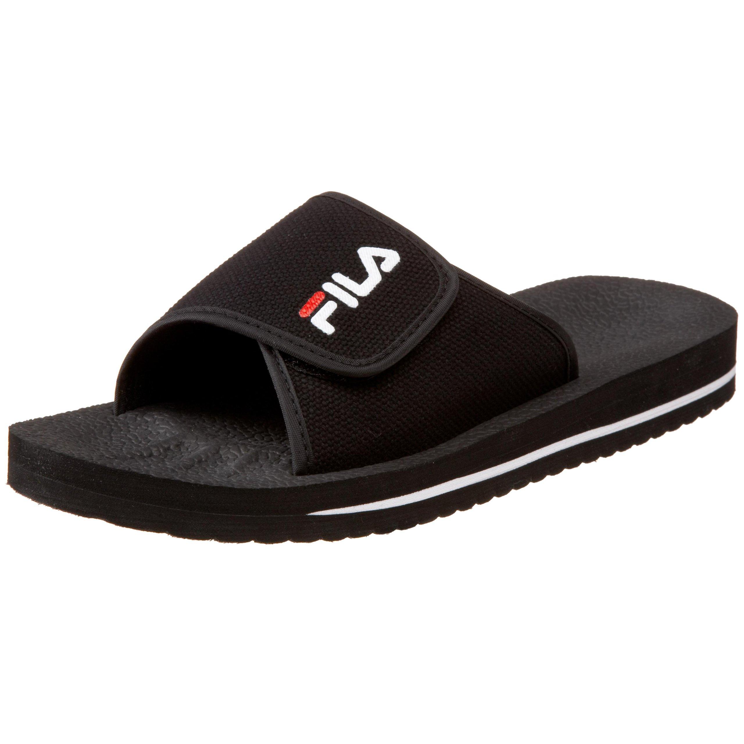 Fila Men's Slip On Sandal,Black/White/Red,9 M US