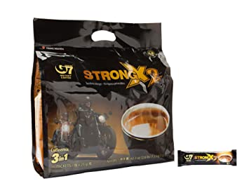 Trung Nguyen G7 Coffee Gu Manh X2 Extra Strength, 3 in 1 Coffee, 36