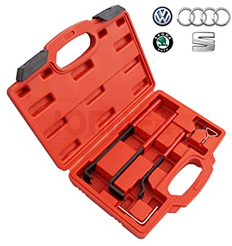CONJUNTO PARA TENSAR CORREA DISTRIBUCION VAG (Audi, volkswagen, Skoda, seat) y Ford: Amazon.es: Bricolaje y herramientas