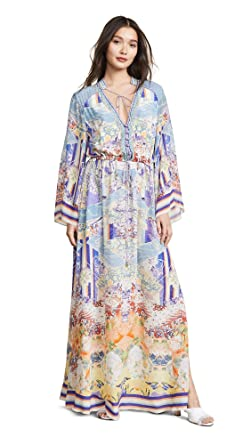 5a61105bc45 Camilla Women s Drawstring Button Up Dress at Amazon Women s Clothing store