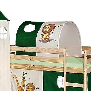 Kinderbett dschungel  IDIMEX Tunnel für Hochbett Dschungel Rutschbett Spielbett Kinderbett ...