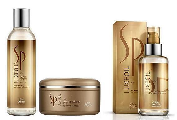 WELLA SP System Professional Luxe Oil Trio Keratin Protect Shampoo 200ml + Ke... by Wella: Amazon.es: Belleza