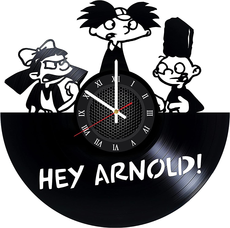 GottaHaveThisNow Hey Arnold Vinyl Wall Clock Hey Arnold Wall Decor Hey Arnold Artwork Hey Arnold Decorative Clock Hey Arnold Modern Clock Original Wall Decor Unique Gift