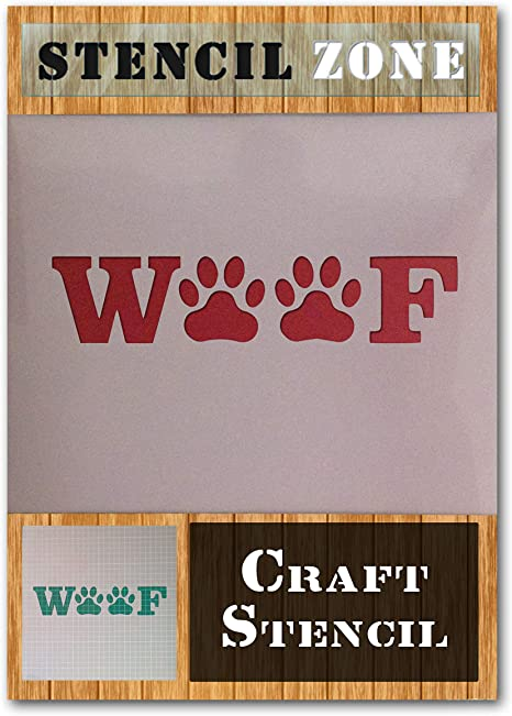 Dog Cat Animal Pet Paw Print Mylar Airbrush Painting Wall Crafts Stencil two