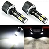 JDM ASTAR Extremely Bright Max 50W High Power 880 890 892 LED Bulbs for DRL or Fog Lights, Xenon White