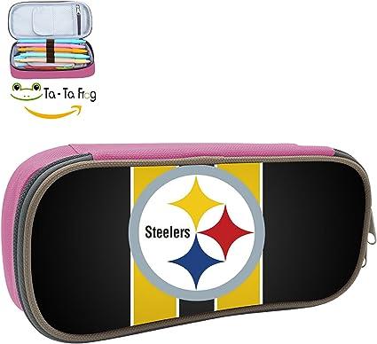 Estuche para bolígrafos Pittsburgh Steelers loog multifunción de gran capacidad estudiantes ored papelería Spons impresión para niños y niñas: Amazon.es: Oficina y papelería