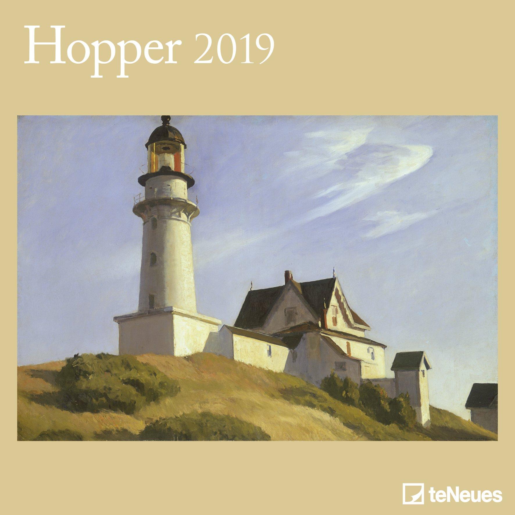 2019 Hopper Calender - Art Calender - 30 x 30 cm (Allemand) Calendrier – 1 juillet 2018 B077ZK3T8Y Bildende Kunst Address Books