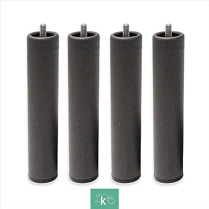 Patas Metálicas Redondas - Rosca de Metrica 10 (1 cms) - Packs de 6 uds de 15 cms
