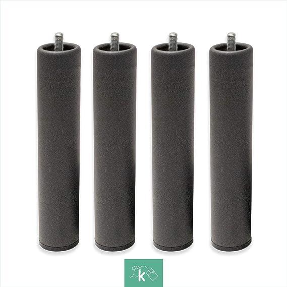 Patas Metálicas Redondas - Rosca de Metrica 10 (1 cms) - Packs de 1 uds de 10 cms