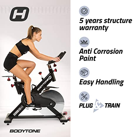 BT BODYTONE - DS-45 - Bicicleta de Spinning o Ciclo Indoor para ...