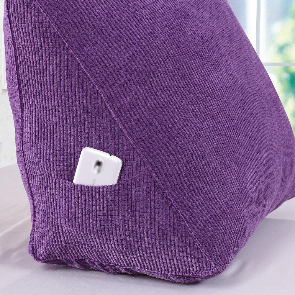 Multi Functional Sofa Triangle Cushions Car Back Waist Pillow Color : Blue , Size : 403020cm