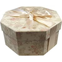 Foster Stephens Handmade | Colorful | Octagon | Hat Box | Antique Pink | Small: 13″ x 7.48